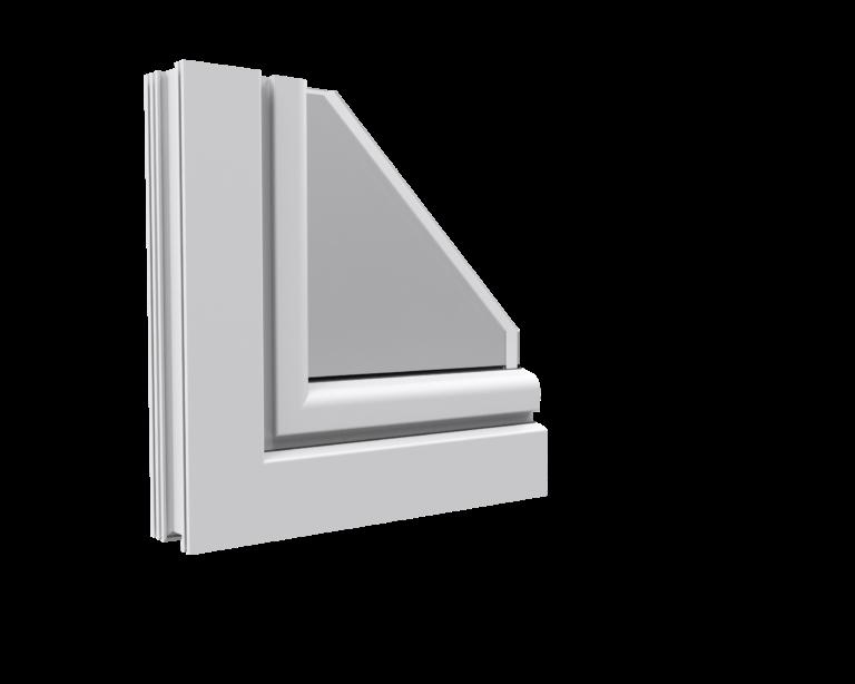 okno Aluplast Ideal 4000 półzlicowany