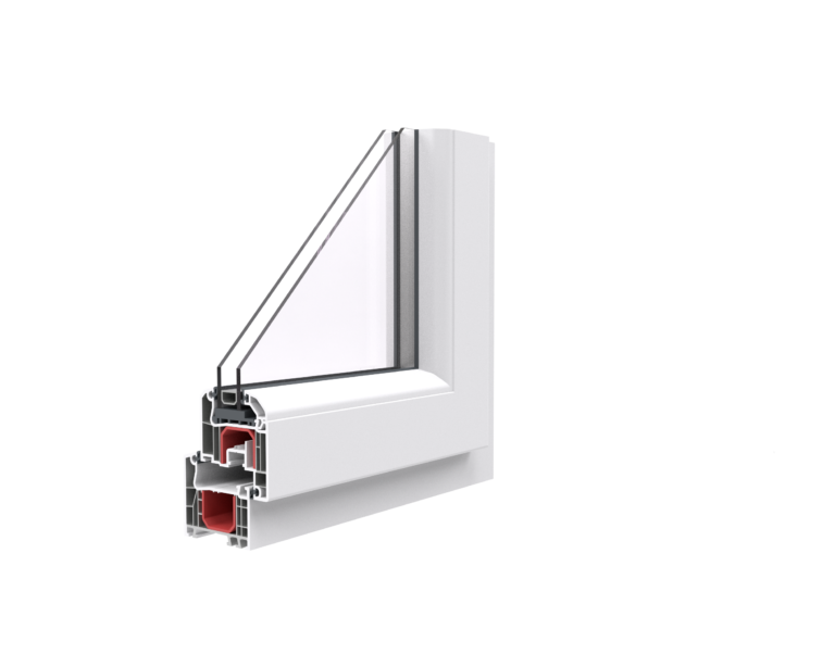 róg okna w białej ramie