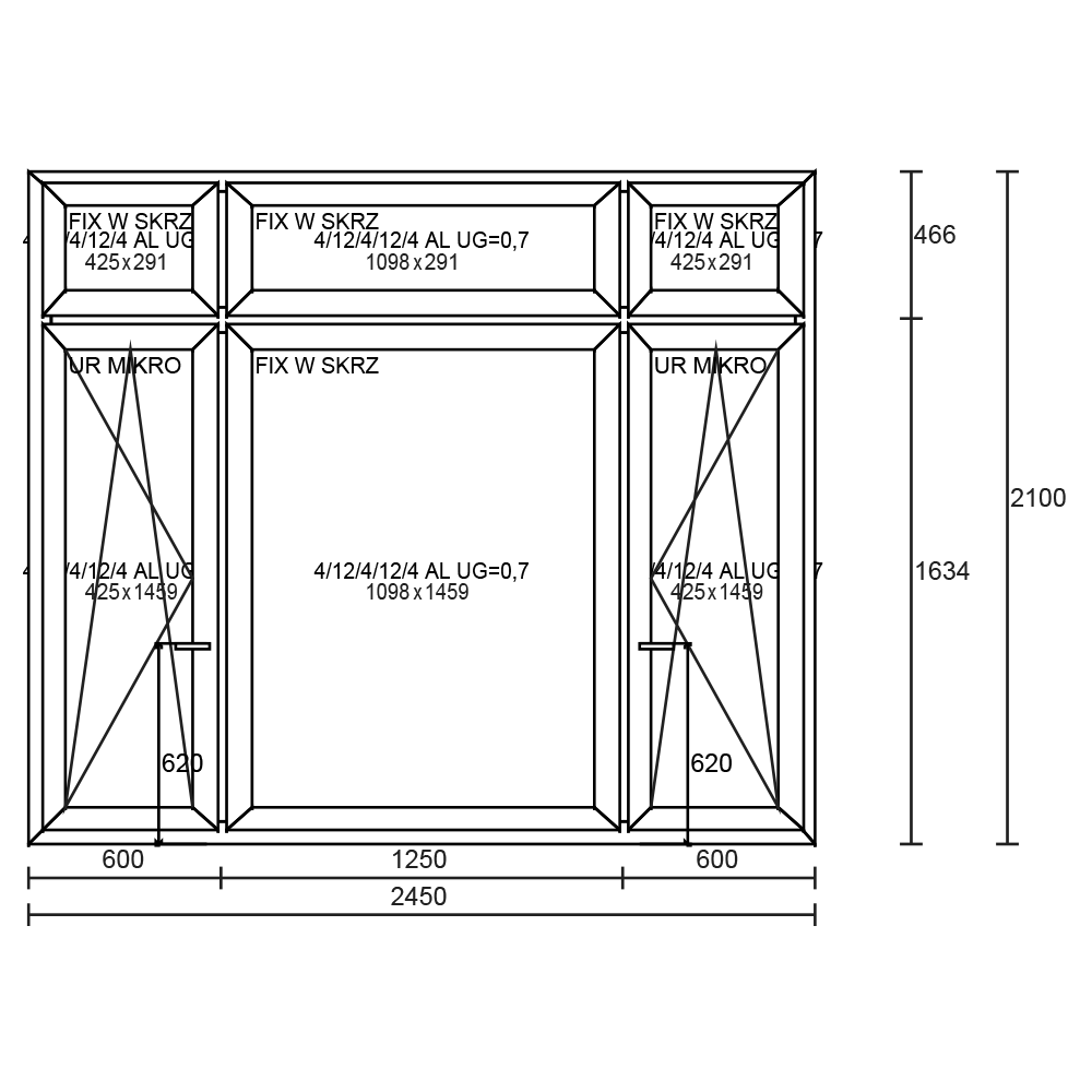 Aluplast Ideal 4000 2450×2100