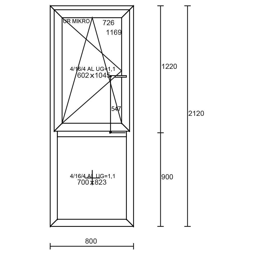 Aluplast Ideal 4000 800×2120